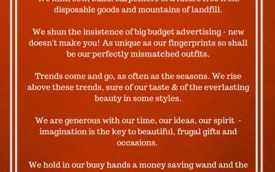Thriftifesto (A thrifter's manifesto!)