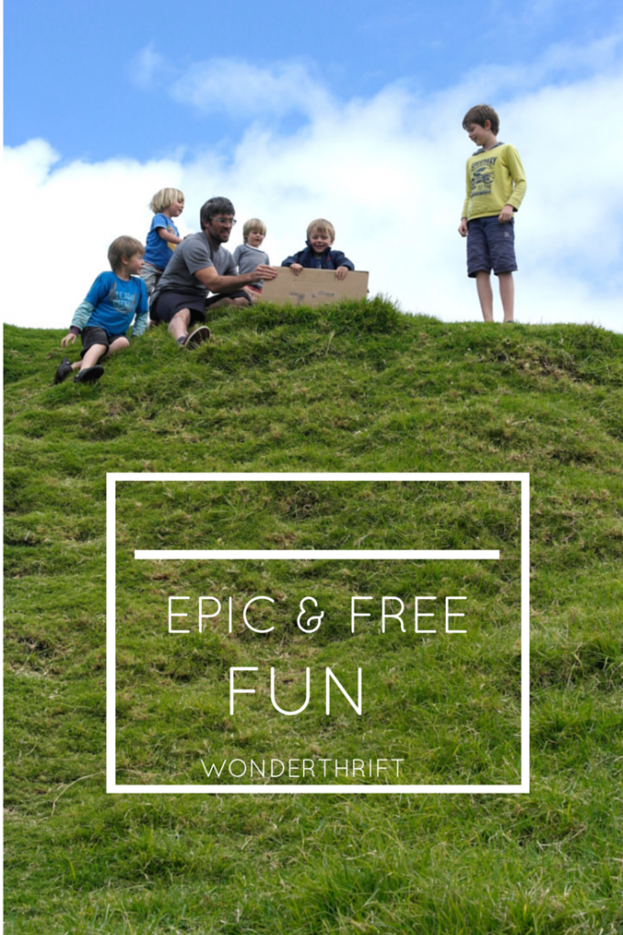 Dry Hill Sliding - epic free family fun!