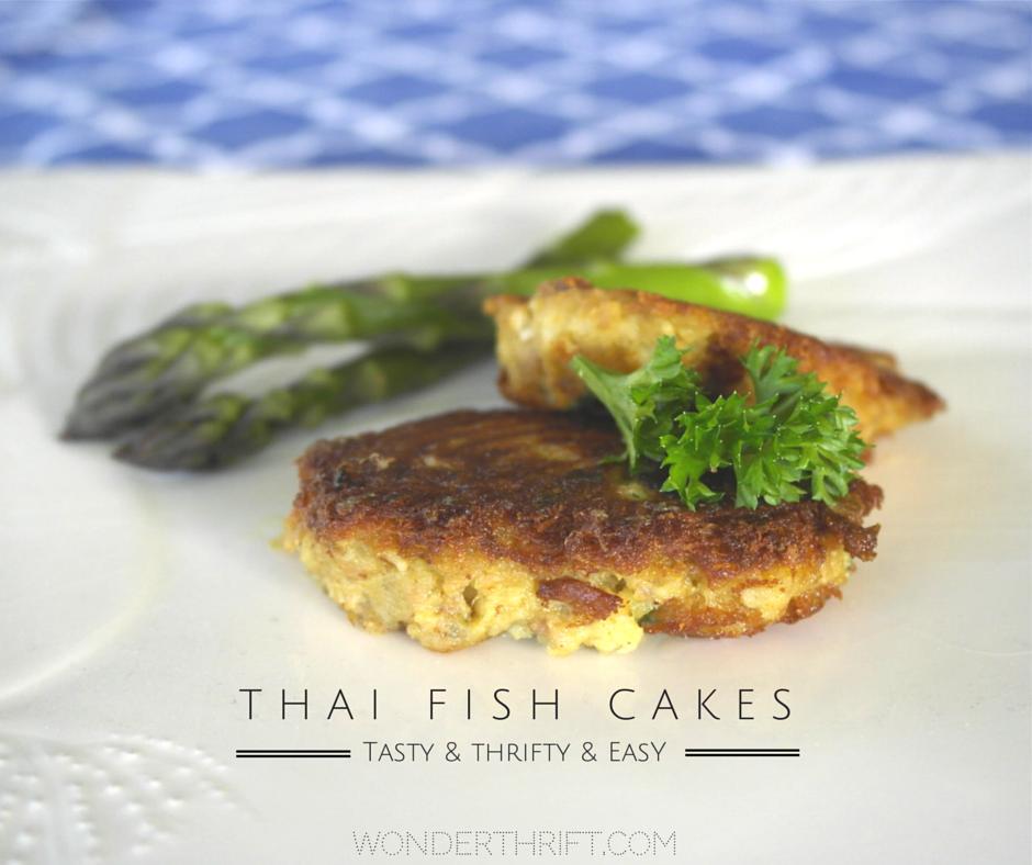 Thrifty easy thai fish cakes from leftover mash potato