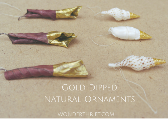 Gold Dipped Natural Ornaments