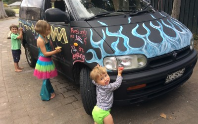 DIY Chalkboard Paint Car