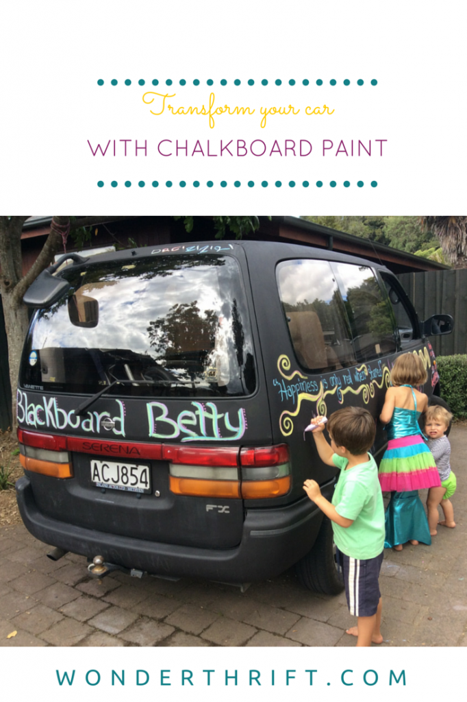 Amazing DIY Paint job on your car -with chalkboard paint!